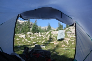 View from our tent window
